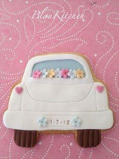 ♔Wedding Car Cookie