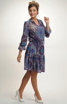 Dámské koktejlové šaty s módním vzorem  973340471a