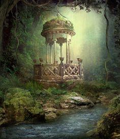 "theemeralddream:  "" The Secret Forest by MeeranUhm  """