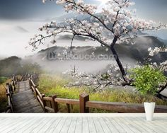 Japanese Walkway wall mural room setting