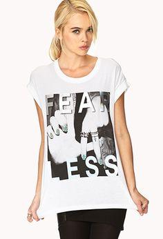 Fearless Rebel Tee | FOREVER21 - 2000108070