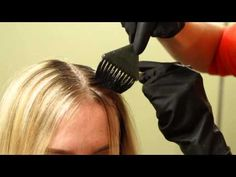 Darkening Roots For Natural Ombre // Women's Hair Color Tutorial - YouTube