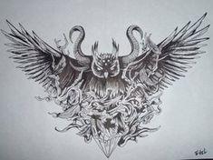bit dark, but very cool design.  Owl Black and White by ~suicidenote666 on deviantART