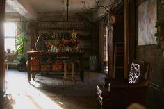 Beautiful picture of Amy Merrick's studio. Super inspiring.