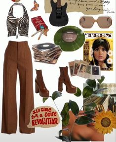 Indie Outfits, Teen Fashion Outfits, Swag Outfits, 70s Fashion, Cute Casual Outfits, Look Fashion, Summer Outfits, Looks Style, Polyvore Outfits