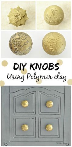 This is brilliant! Make your own high end knobs. Vikalpah: DIY knobs using polymer clay Trending Cra Furniture Knobs, Coaster Furniture, Furniture Makeover, Diy Furniture, Reclaimed Furniture, Furniture Repair, Refurbished Furniture, Repurposed Furniture, Polymer Clay Projects