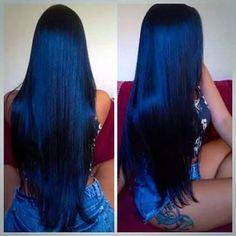 Image result for cabelos pretos longos