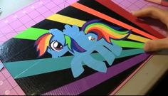 Amaz duck tape painting of my little pony rainbow dash