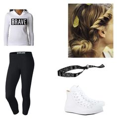 """""""Casual day"""" by short-376 ❤ liked on Polyvore featuring NIKE and Converse"""