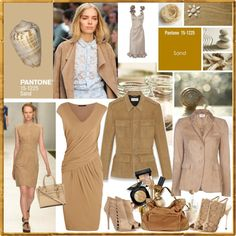 A fashion look from December 2013 featuring slip on dress, brown jacket and Akris Punto. Color Trends 2018, 2018 Color, Color Inspiration, Inspiration Boards, Ss 2017, Pantone Color, Spring Summer 2018, Peplum Dress, Warm