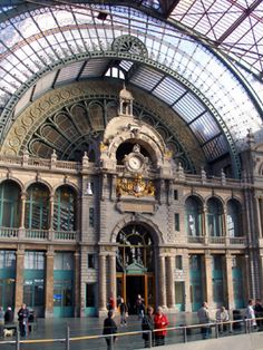Central station, Antwerp, Belgium.   don't think I have ever seen anything so beautiful.