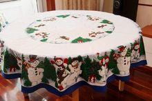 Boneco de Neve bonito do Natal Toalha De Mesa Toalhas de Mesa de Pinho Da Árvore de Natal(China)