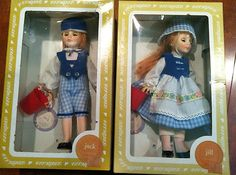 "Effenbee Dolls ""Jack and Jill"" 1186 & 1187"