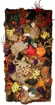 California Seascape by Loretta Alvarado....reef made out of felt