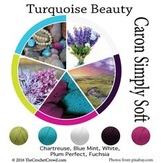 Caron Simply Soft Turquoise Beauty Color Combinations
