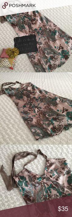 """Fiori di Zucca silk dress Gorgeous 100% silk halter dress by Fiori di Zucca. Size 6. 16"""" bust. 34"""" length. Beautiful dress!!! Fiori di Zucca Dresses"""
