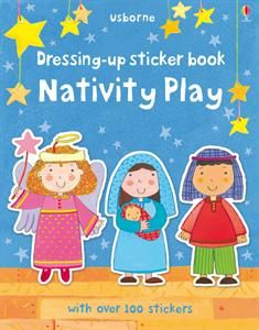 """Dressing Up Sticker Book Nativity Play"" is a great addition to our Christmas books. Buy yours at www.UsborneNow.com!"