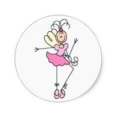 Stick Figure Ballerina Sticker