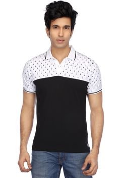 RS by Rocky Star-Mens Short Sleeves Slim Fit Print Polo T-Shirt