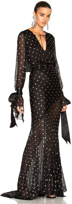 Alexandre Vauthier Embellished Plunging Gown | #Chic Only #Glamour Always