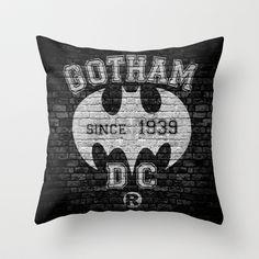 BATMAN! Throw Pillow by John Medbury (LAZY J Studios) - $20.00