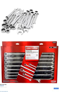 tools: Craftsman 20 Pc Combination Ratcheting Wrench Set Metric Mm And Standard Sae BUY IT NOW ONLY: $52.99 #priceabatetools OR #priceabate