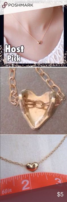 (L2) Heart Necklace See pic Jewelry Necklaces