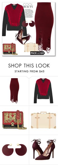 """""""When the pieces never fit"""" by mrs-chevious ❤ liked on Polyvore featuring Chicwish, Altuzarra, Roberto Cavalli, Globe-Trotter, Marni and Massimo Matteo"""