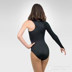Fashion one-sleeve dance leotard-Back