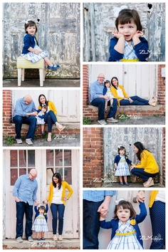 ZLM photography love, love, love these coordinating colors for a family photo shoot!