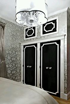 This is the idea - doors above the closet for more storage - especially with cathedral ceilings. Not liking these at all.