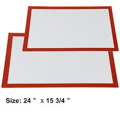 2 X Nonstick Silicone Baking Mat Baking Liner Sheet Heat Resistant Mat 241575 Inch >>> You can find more details by visiting the image link.