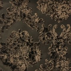 Florence Palace - Damask Pattern Burnout Velvet Upholstery Fabric by the Yard - Available in 9 Colors - Coffee Bean - Top Fabric - 6