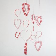 how to make a hearts mobile with plastic bottles, crafts, repurposing upcycling, seasonal holiday decor, valentines day ideas