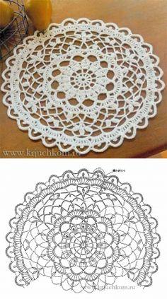 krjuchkom.ru Free Mandala Crochet Patterns, Crochet Doily Diagram, Crochet Circles, Crochet Motif, Crochet Wool, Thread Crochet, Unique Crochet, Love Crochet, Lace Doilies