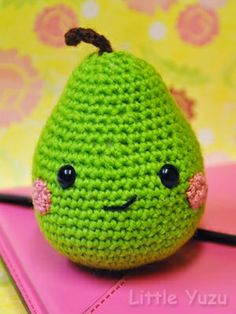 Crochet amigurumi fruit.