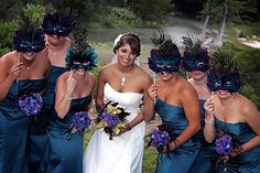 Peacock Masquerade.  That's my dream wedding right there