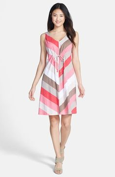 Tommy Bahama 'Kai' Chevron Stripe Sleeveless Jersey Dress available at #Nordstrom