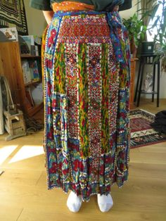 Kalotaszeg skirt and apron; front Photo credit: Linda Teslik.  Look at that beadwork!