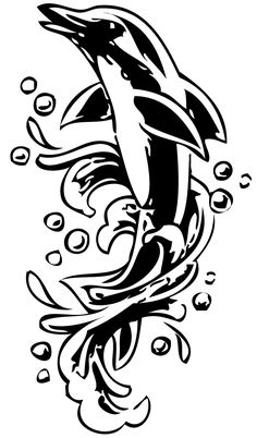 https://www.google.com/search?q=dolphin clipart black and white