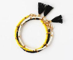 Tribal Friendship Bracelet Tassel Bracelet by feltlikepaper, $18.00