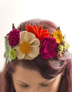 Image result for felt flower how to