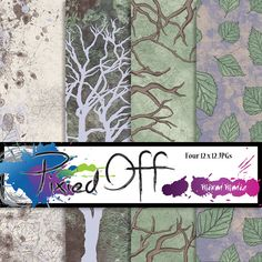 Branching Out  Four 12x12 Pattern Instant Download by PixiedOff