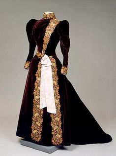 paris fashions 1890 | Maria Fyodorovna Charles Frederick Worth's Firm, Paris France. 1890s ...