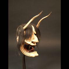 Japon, Masque Hannya, 19ème siècle. Japanese Mask, Japanese Costume, Masque Hannya, Masks Art, Irezumi, Objet D'art, Fursuit, African Art, Lion Sculpture