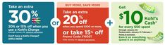 Kohls 30% OFF Coupons Code plus Free Shipping January 2019 Kohl's is offering an Extra 30% Off Your Order when you apply promo code FAVORITE30 at checkout and pay with your Kohl's Charge Card. They also offeri... Kohls, Coupon Codes, 30th, Coupons, January, How To Apply, Coding, Free Shipping, Cards