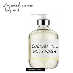 Homemade Coconut Oil Body Wash