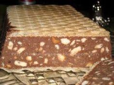 Prajitura delicioasa cu ciocolata, Rețetă Petitchef Sweets Recipes, Easy Desserts, Delicious Desserts, Cake Recipes, Cooking Recipes, Romanian Desserts, Romanian Food, Condensed Milk Cake, Waffle Cake
