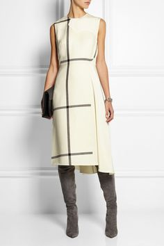 3.1 Phillip Lim|Checked wool and washed-silk dress|NET-A-PORTER.COM