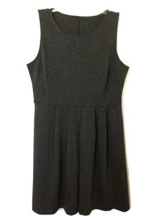 Gray Empire Pleated Dress New with Tags Size Large 12 14 Charcoal Gray | eBay